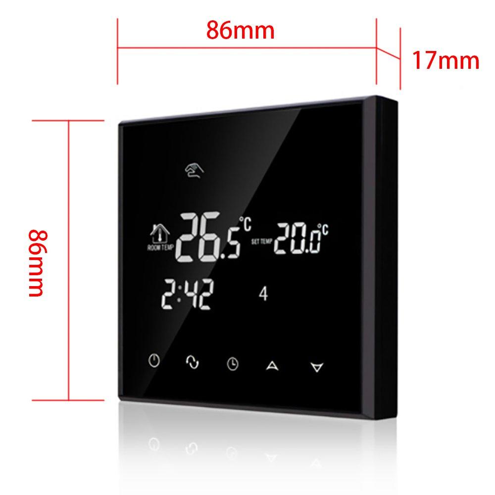 WIFI 16A termostato inteligente por smartphone APP - LCD Pantalla ...