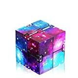 Infinity Cube Fidget Toy, Finger Fidget Toys for Kids and Adults, Fidget Blocks for Stress Relieving, Preschool Toys Killing Time Fidget Cube for OCD/ADD/ADHD (Galaxy Space) Eoqiza