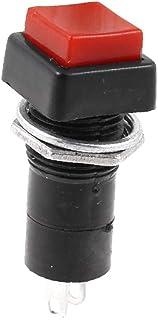 X-DREE Red Square Button Momentary Pushbutton Switch SPST AC 220V For UAE 3A(Interruttore a pulsante momentaneo con pulsan...