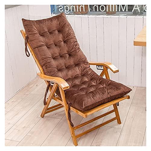 ZCXBHD Cojín para Silla De Salón O Tumbona Reclinable Cojín con Diseño De Colchón para Tumbonas En El Patio Jardín Exteriores Galería(No Incluye Sillas) (Color : Brown, Size : 155 * 48cm)
