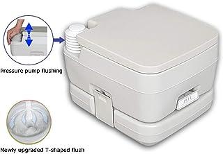 HOYOCE Portátil WC Quimico, 10L Inodoro De Campamento Material De Seguridad WC Portatil para Ancianos Camping WC Puede Soportar 150 Kg