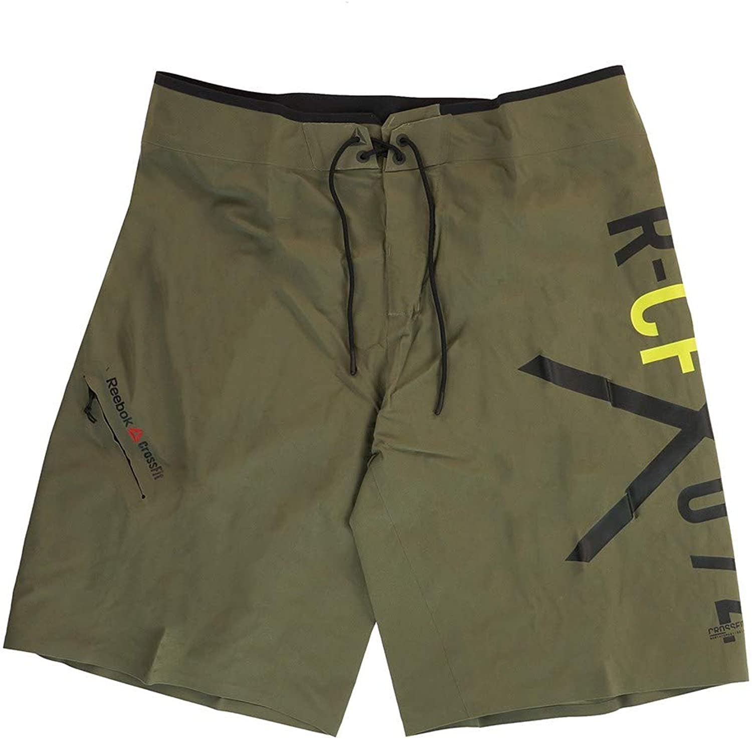 Reebok Men& 39;s Crossfit Pinnacle 74 Training (Olive) Shorts Z89318