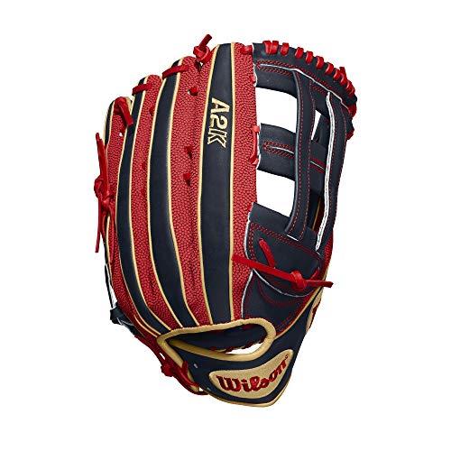 Wilson A2K MB50 Mookie Betts Game-Modell, Outfield-Baseball-Handschuh, Linke Hand