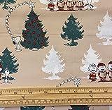 Fat Quarter Quiltstoff mit Weihnachts-Erdnüssen, Snoopy