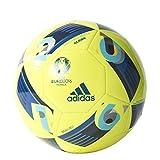 adidas Euro16 Glider - Balón de fútbol, Color Amarillo/Azul, Talla 4