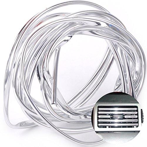 beler 4m Universal Auto Silber Chrom Klimaanlage Vent Stoßfänger Lüftungsgitter Dekorative Streifen Zierleisten