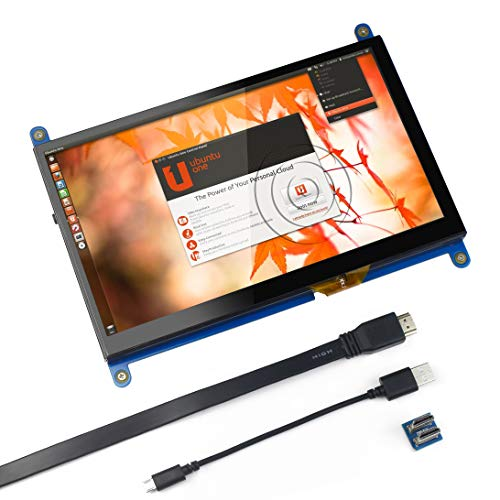 Für Raspberry Pi 7 Zoll kapazitiver Touchscreen-HDMI-Monitor - 1024 x 600 HD-LCD-Gaming-Bildschirm, Drive Free für Raspberry Pi/Windows 10 / Beagle Bone Black und Banana Pi