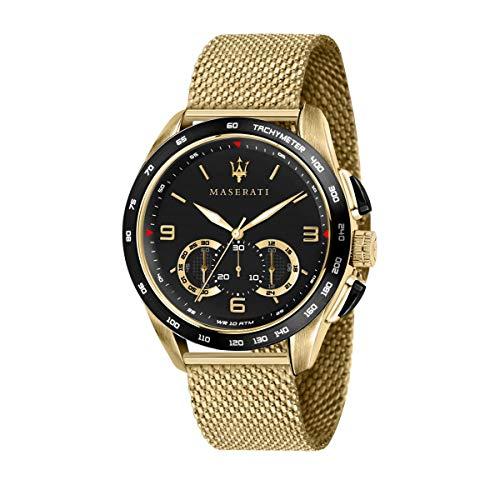 Reloj para Hombre, Colección Traguardo, con Movimiento de Cuarzo y función cronógrafo, en Acero y pvd Amarillo - R8873612010