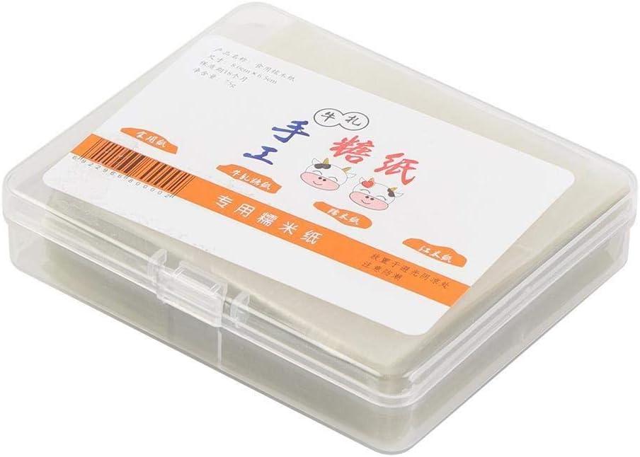Turrón Papel - Papel Comestible de Oblea de Arroz Hojas de Envoltura de Caramelo Hechas a Mano Cubierta de Papel 500 Piezas en Total