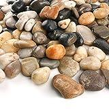 "Anothera 18-lb Mixed Color Pebbles 1-2 "" River Rocks Garden Outdoor Decorative Stones"