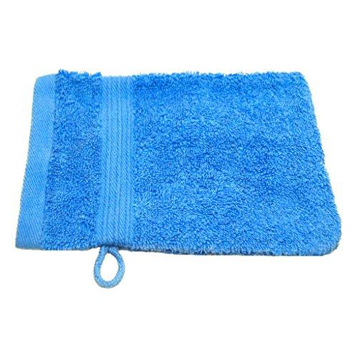 Gant de toilette Julie Julsen - Doux et absorbant - Certifié Oeko-Tex - 500 g/m² - 15 x 21 cm - Disponible en 23 couleurs, Coton, bleu ciel, 15 cm x 21 cm