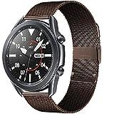 LGFCOK 20/22mm per Huawei Watch GT2 PRO/Fit Band per Samsung Galaxy Watch 3 45/41mm Acciaio Inossidabile Cintura Milanese Attivo 2 46 / 42mm Cinturino