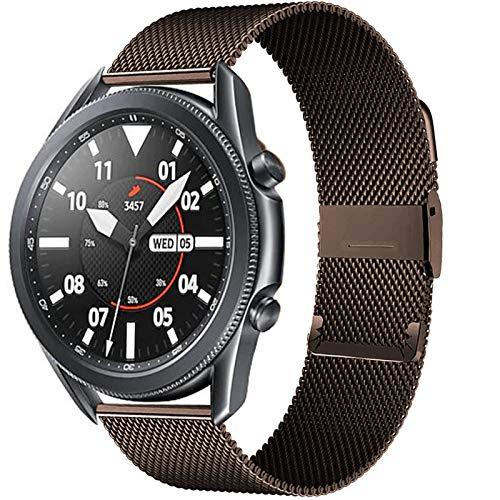 HGGFA 20 / 22mm para Huawei Watch GT2 Pro/FIT Band para Samsung Galaxy Watch 3 45 / 41mm Cinturón de Acero Inoxidable Milanese Active 2 46 / 42mm Correa