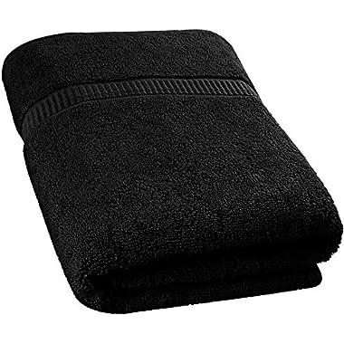 Utopia Towels Soft Cotton Machine Washable Extra Large Bath Towel (35 by 70 Inches) Luxury Bath Sheet - Black