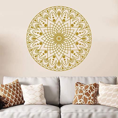 Etiqueta de la pared de Mandala Mandala Style Flower Mandala Yoga Etiqueta de vinilo