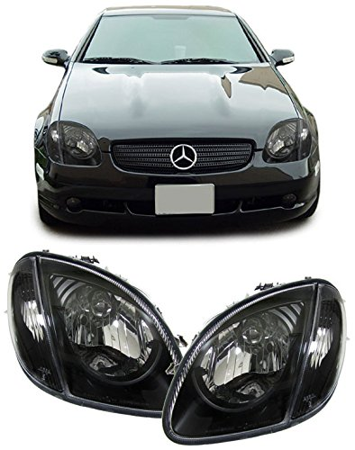 Carparts-Online 13116 Klarglas Scheinwerfer mit Blinker schwarz