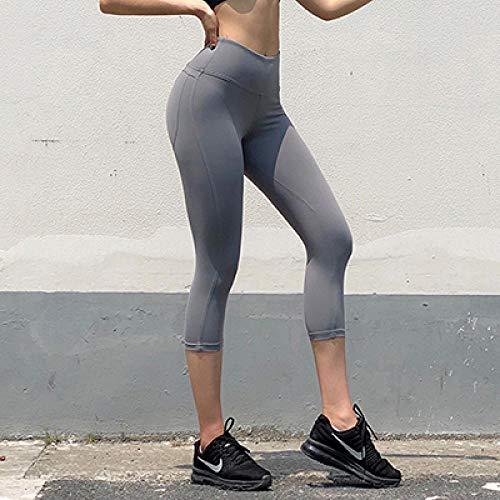 Naadloze gymlegging met hoge taille voor dames,Squat Proof Scrunch Bum Yoga Capri, High Waist Sport Workout Stretch, Dames Power Flex hardloopbroek