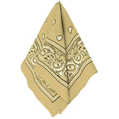 amscan Gold Bandana, Party Accessory, Multicolor, 20' x 20' (255561.19)
