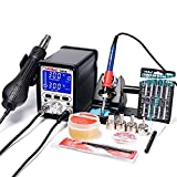 MMOBIEL YiHua 995D 2 in 1 Soldering Station iron 75W Hot Air Blower Rework Station 720W Hot Air