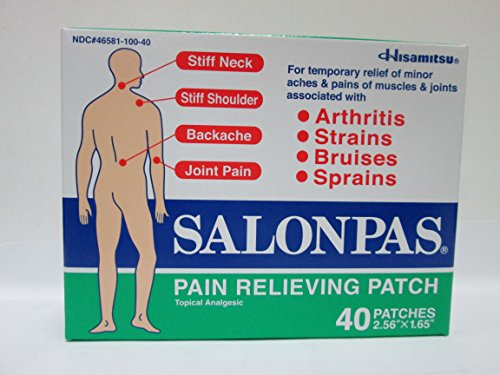 Salonpas- Parches para aliviar el dolor (pack de 40)