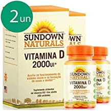 Kit 2 Vitamina D 2000UI – Sundown Naturals 200 cápsulas