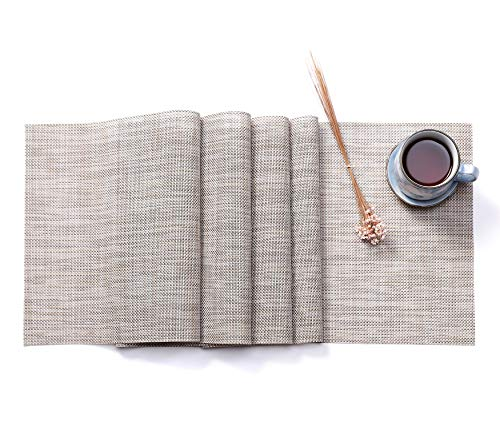 HYSENM Tischläufer Tischdecken Table Runner DREI Größen PVC, Beige 30 * 190cm