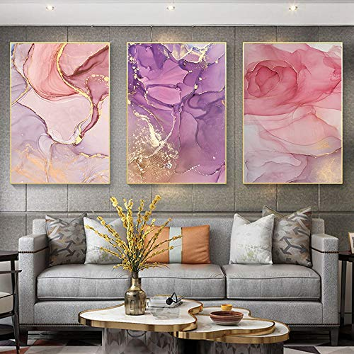 Lunderliny Canvas Printings Abstract Colourful Wall Art Picture Artistic Style Canvas Poster And Prints Home Decor Mural Painting For Living Room D