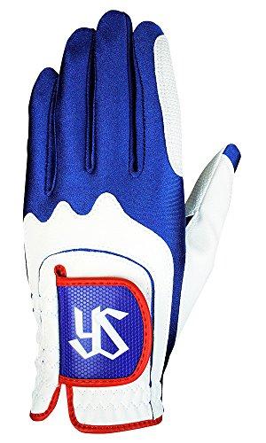 LEZAX(レザックス) ゴルフグローブ 東京ヤクルトスワローズ ワンサイズ ゴルフグローブ YSGL-7658 ホワイト×ブルー