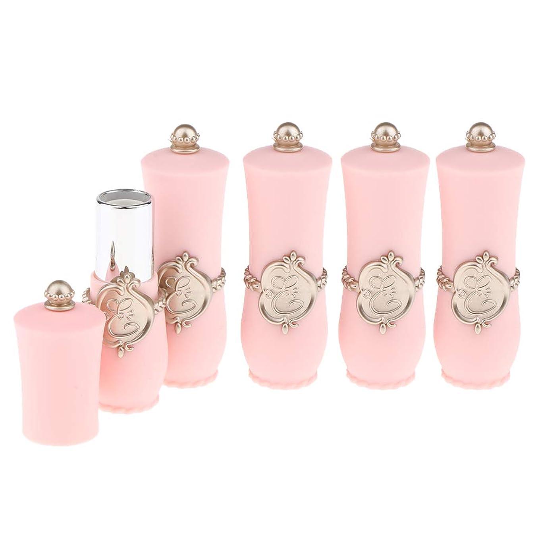 エコー施しトランジスタCUTICATE 口紅サンプル リップ クリーム チューブ 小分けボトル リップスティック 口紅 包装材料 全2色 - ピンク