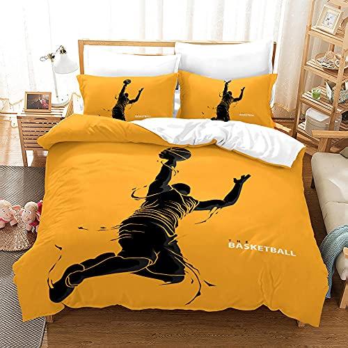Bedclothes-Blanket Juegos de Cama de 90,Caso 3D Impresión Digital Acción de Baloncesto Ropa de Cama de Tres Piezas-2_210 * 210