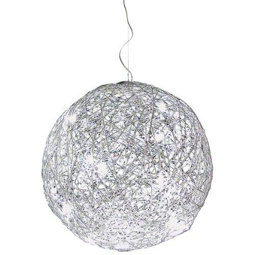 s.LUCE Mesh XXL LED Drahtkugel Hängeleuchte Ø 90 cm Hängelampe LED Pendellampe Drahtgefecht Pendelleuchte Treppenhaus Galerie