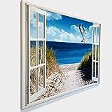 Leinwandbild mit Fensterblick - Druck auf Canvas Leinwand -