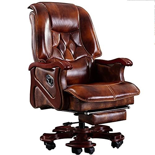 Sillas de Oficina, sillas ejecutivas de Negocios de Madera Maciza, escritorios para computadora y sillas con Pedales, sillones, sillones reclinables giratorios y elevadores/como se Muestra / 1