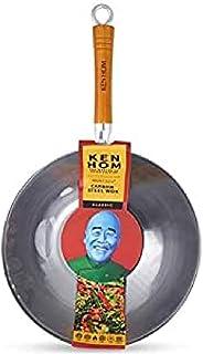 Ken Hom Classic KH332003 Wok Traditionnel en Acier Carbone, ø32 cm, Gris