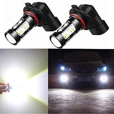 Alla Lighting H10 9145 LED Bulbs Super Bright 6000K Xenon White Fog Lights Replacement High Power 50W 12V 9140 9040 9045