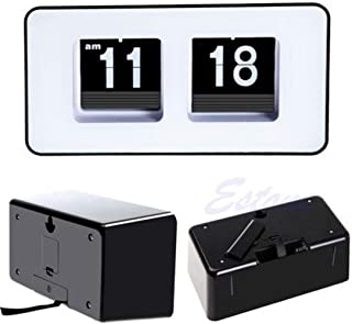 Honana Alarm Clocks Retro Auto Flip Clock Number Classic Stylish Modern Desk Wall Clock Home Decor