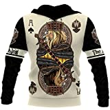 Ace Spade Lion King Poker 3D All Over Print Hoodie Shirt