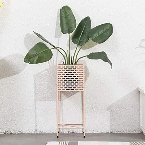 Lfixhssf Dekorative Pflanze für den Innenbereich, mit Halterung aus Metall, für Wohnzimmer, Schlafzimmer, Familie, Eingang, Studierzimmer, Empfang, Innendekoration, Bett, Lfixhssf
