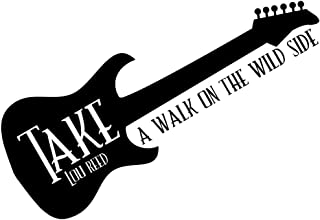 DNVEN 43 inches x 16 inches Take a Walk on The Wild Side Rock Band Music Guitar Infinite Decals Stickers Wall Vinyl Art Girl Boy Teen Baby Home Vinyl Wall Decals Quotes Sayings Words Art Decors