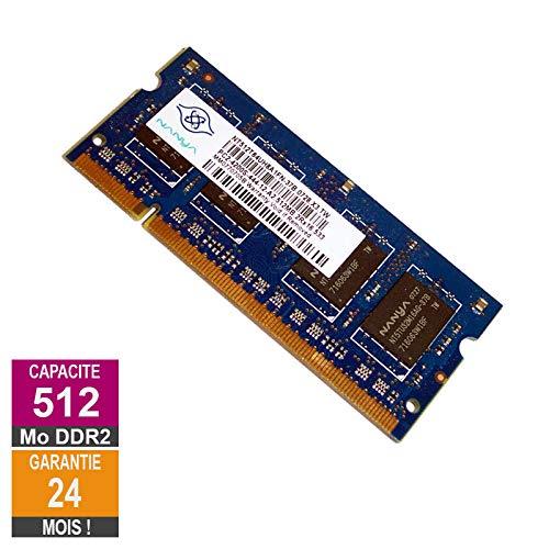 512MB RAM DDR2 Nanya NT512T64UH8A1FN-37B So-DIMM PC2-4200S