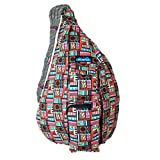KAVU Rope Bag Shoulder Sling Cotton Crossbody Backpack - Geometry