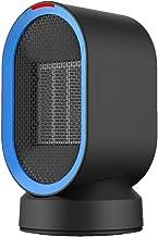 XYW-0007 Calefactor EléCtrica Calefactor Calentamiento Gran Angular Ultra Silencioso Temperatura/InduccióN Mini Hogar 600w Oficina/Uso En Dormitorios (Negro)