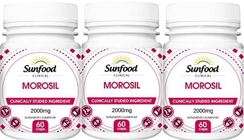 Morosil Extrato do Suco de Laranja Moro 2000 mg Sunfood 60 Softgel Kit 3 Unidades