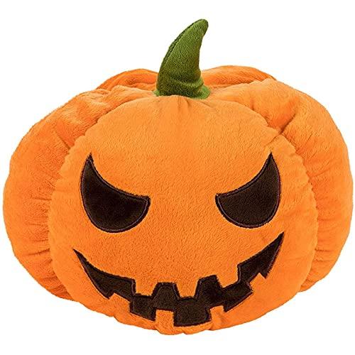 Pumpkin Stuffed Animals, Halloween Plush Toy for Kids (5.9 x 9 in)