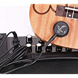 style925 ギターボード ピックアップ マイク 、 ウクレレピックアップ、 ピックアップマイク アコギ、クラシックギター 適用接触式マイク変換器、 簡単取付 、 穴開け不要、 電源パワー不要