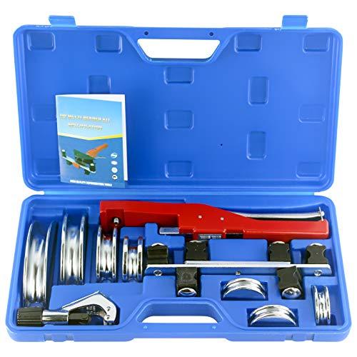 IBOSAD HVAC Refrigeration Ratchet Manual Copper Tube Bender & Pipe cutter Copper Tubing Set with Bending 3/4'', 7/8'', 3/4'', 1/2'', 5/8'', 1/4'' 5/16''