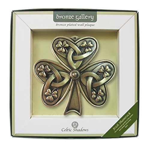 Carrolls Irish Gifts Bronze Plated Wall Plaque with Shamrock Design