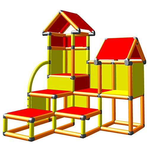 Move And Stic Playhouse For Childrens Room Indoor And Outdoor Garden House Red Stoffach Play House Perfect To Supplement Or Um With Moveandstic Start Early Education Furniture Supplies Business Industry