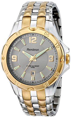 Armitron Men's 20/4963SVTT Ratchet Bezel Two-Tone Bracelet Watch