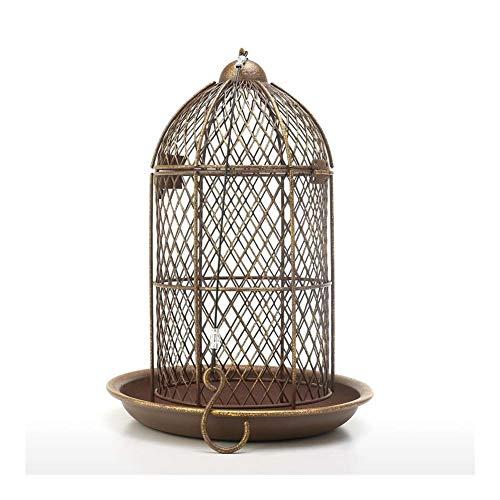 MXQIN Bird Feeder Vogelkäfig Feeder Hängen Wild Bird Haus Metall Feeder Garten Hinterhof Dekoration Vogelkäfig Zubehör Geschenk Can Make Your pet Bird eat Better